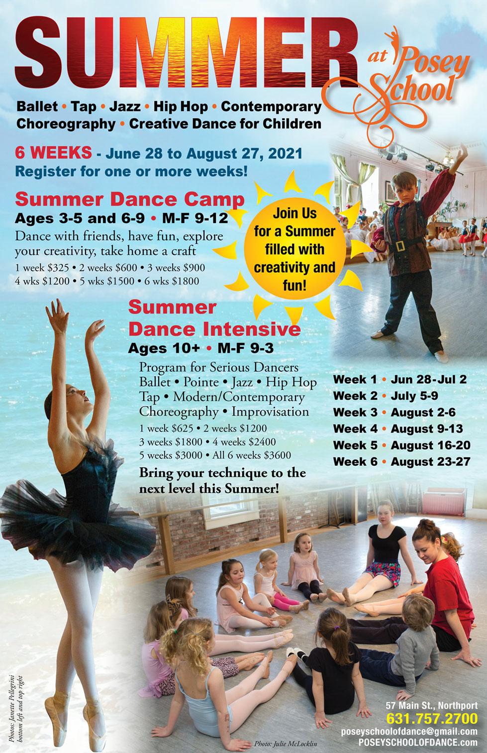 Summer Dance Camp & Summer Dance Intensive at Posey School